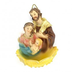 Resin Holy Water Font Holy Family 10 cm