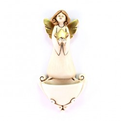 Holy Water Font with Angel and Star 13 cm