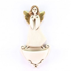 Holy Water Font with Angel Praying hands 13 cm