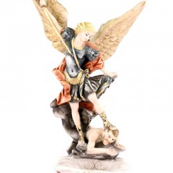 St. Michael Archangel Resin Holy Water Font 23 cm