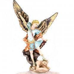 St. Michael Archangel Resin Holy Water Font 28 cm