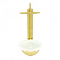 Acquasantiera in metallo dorato 31 cm