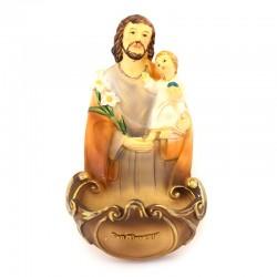 Holy water font Saint Joseph resin 13.5 cm