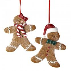 Set of Gingerbread Boy and Girl Ornaments 11,5 cm Kurt Adler