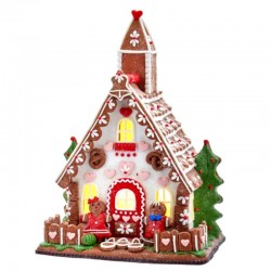 Gingerbread House with Couple of Gingerbread man 25,4 cm Kurt Adler