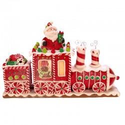 Gingerbread Train with Santa Claus 19 cm Kurt Adler