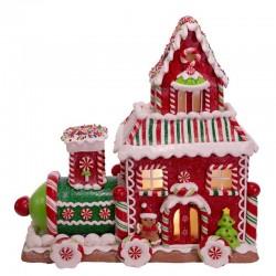 Gingerbread Train House 26,5 cm Kurt Adler