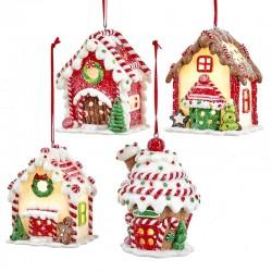 Illuminated Gingerbread Houses 8 cm  Kurt Adler