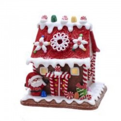 Gingerbread House with Candies and Santa Claus 14 cm Kurt Adler