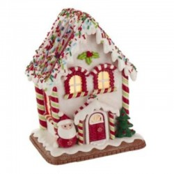 Gingerbread House with Candies and Santa Claus 18 cm Kurt Adler