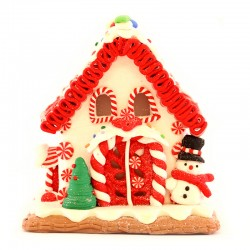 Gingerbread house with snowman 14 cm Kurt Adler