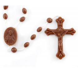 Brown Rosary Open Cross 100 items package