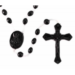 Black Rosary open Cross 100 items package