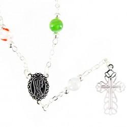 Single Decade Rosary Necklace Murrina grain 6 mm