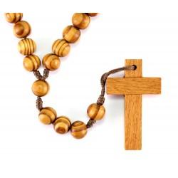 Rosario Francescano in legno e corda Grano 10 mm