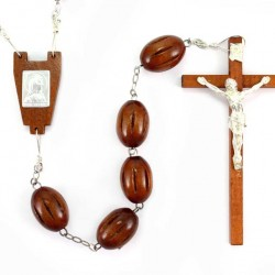 Bedhead Rosary Light Wooden grain 3x2 cm