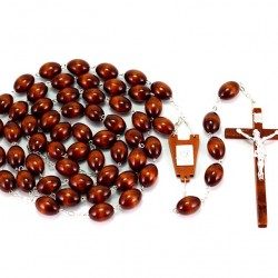 Bedhead Rosary Light Wood Grain 2.5x1.8 cm