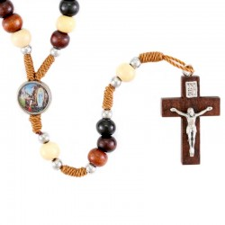 Our Lady of Lourdes Colored Wood Rosary 6 mm