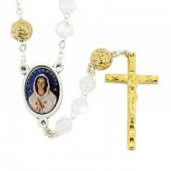 Rosary in plastic Mystic Rose Bead 7 mm