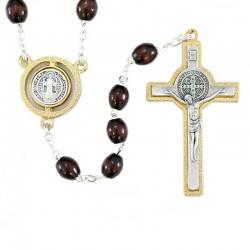 Rosary in wood Saint Benedict  Grain 8x6 mm