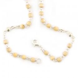 Miraculous Virgin Rosary in ivory wood Bead 4 mm