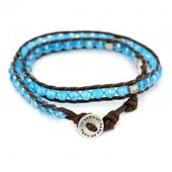 Twine Crystal Double Rosary Bracelet