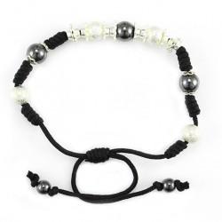 Black Twine Bracelet grain 8 mm