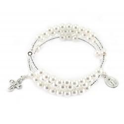 Rosario a bracciale a spirale perla Grano 6 mm