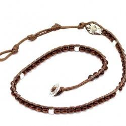 Twine Wood Double Rosary Bracelet