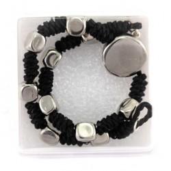 Rosary Bracelet Metal Cubic grain 5x5 mm