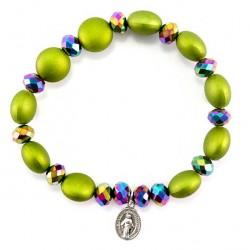 Rosary Elastic Bracelet Miracle Medal Grain 8 mm