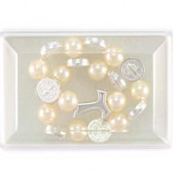 Elastic Rosary Bracelet St. Benedict Grain 8 mm