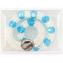 Elastic Rosary Bracelet Glass Grain 10 mm