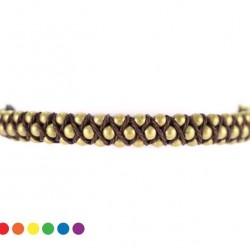 Cord Bracelet with metal Spheres 3 mm
