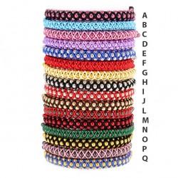 Cord Bracelet with metal Spheres 2 mm