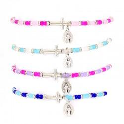 Elastic Rosary Bracelet Glass Grain 3 mm