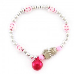Children Elastic Bracelet with Angel 3 mm