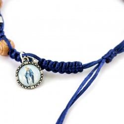 String Rosary Bracelet Miraculous Medal Grain 8 mm
