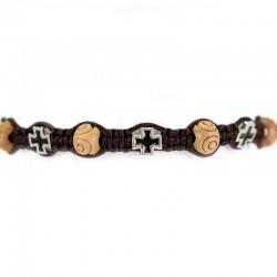 String Rosary Bracelet St. Benedict Medal Grain 8 mm