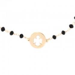 Rosary Bracelet Copper Silver & Angel Grain 3 mm