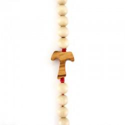 Wood Rosary Bracelet with Tau Grain 7 mm