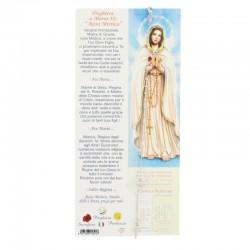 Rosary Bracelet Rhodium Silver Rose Grain 3 mm