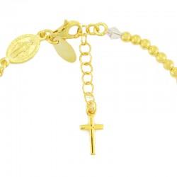 Rosary bracelet silver gilt transparent swarovski