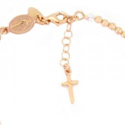Rosary bracelet copper silver transparent swarovski