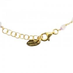 Rosary bracelet gilded silver Crosses transparent swarovski