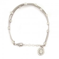 Rosary Silver double rope bracelet Bead 5 mm