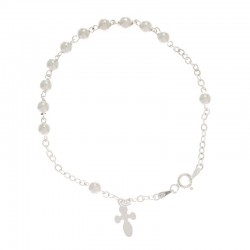 Classic bracelet rosary in 925 silver