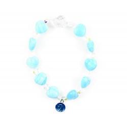 Elastic Rosary Bracelet Glass Heart grain 10 mm