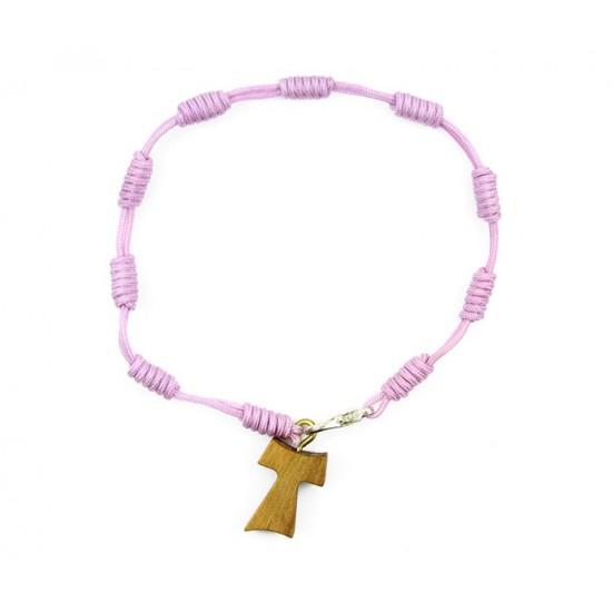 Twine Rosary Bracelet Olive Wood Tau grain 6 mm