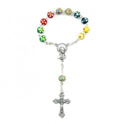 Single Decade Rosary Missionary Painted Wood grain 6 mm